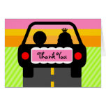 OFF INTO THE SUNSET THANK YOU GREETING CARDS