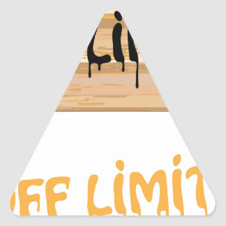 Off Limits wood sign Painted Triangle Sticker
