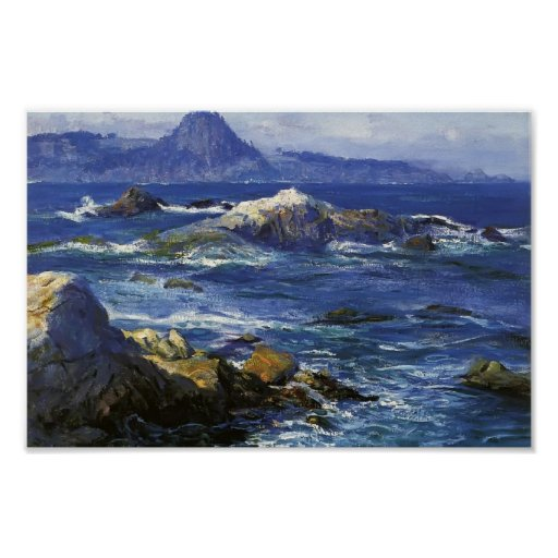 Off Mission Point (aka Point Lobos) by Guy Rose Poster