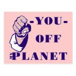 Off My Planet Postcard