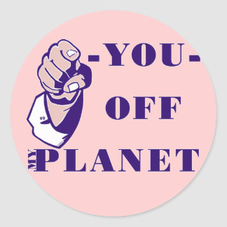 Off My Planet Classic Round Sticker