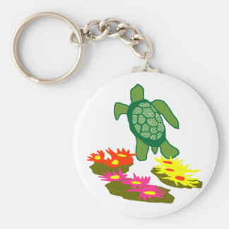 Off of the anemone sea turtle key chain