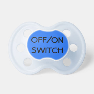 Off/On Switch baby boy pacifier