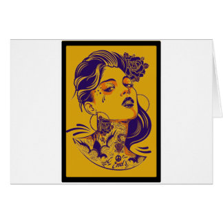 OFF ON WOMAN GREETING CARD