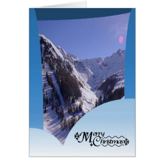 Off piste Mt Blanc, French alps Card