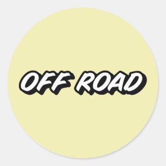 OFF ROAD - 4x4 All Terrain 4 Wheel Drive Classic Round Sticker
