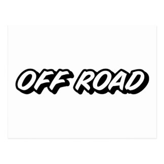 OFF ROAD - 4x4 All Terrain 4 Wheel Drive Post Card