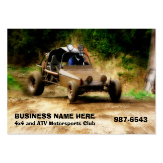 Off Road ATV Dune Buggy Mudding Business Card Template