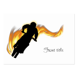 Off Road Dirt Bike with Flames Business Cards