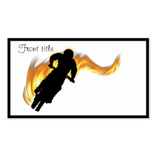 Off Road Dirt Bike with Flames Double-Sided Standard Business Cards (Pack Of 100)