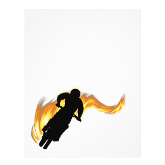 Off Road Dirt Bike with Flames Flyer