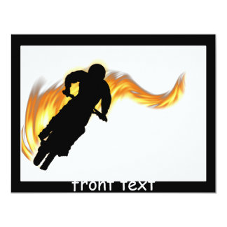 Off Road Dirt Bike with Flames Invitation