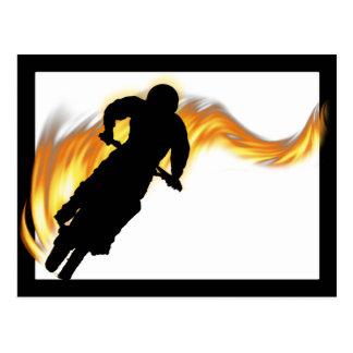 Off Road Dirt Bike with Flames Postcard