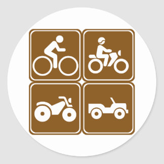 Off-Road Highway Signs (Collection) Classic Round Sticker