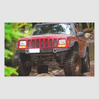 Off Road in the Pacific Northwest Rectangular Sticker