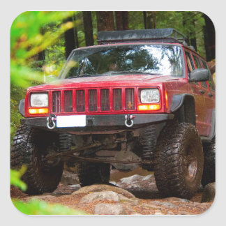 Off Road in the Pacific Northwest Square Sticker
