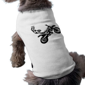 Off-Road Motorcycle Racing Doggie T Shirt