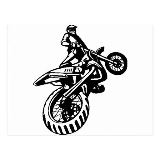 Off-Road Motorcycle Sport Postcard