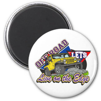 Off Road On The Edge Magnet