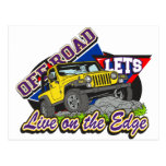 Off Road On The Edge Postcard