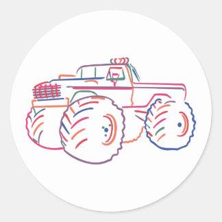 Off Road Pickup Classic Round Sticker