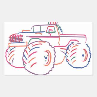 Off Road Pickup Rectangular Sticker