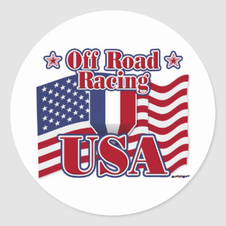 Off Road Racing USA Classic Round Sticker