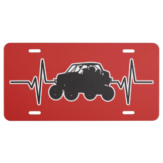 Off-Road UTV Racing - Heartbeat Pulse Graphic License Plate