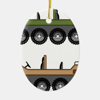 Off road Vehicle Utility Ceramic Ornament