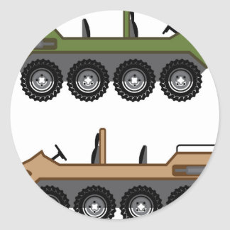Off road Vehicle Utility Classic Round Sticker