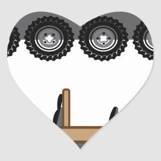 Off road Vehicle Utility Heart Sticker
