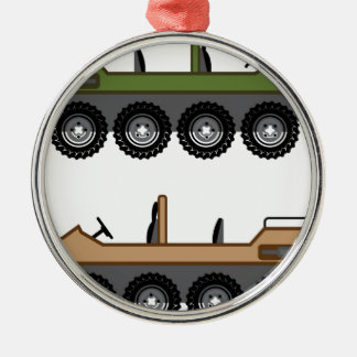Off road Vehicle Utility Metal Ornament