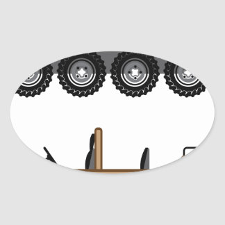 Off road Vehicle Utility Oval Sticker