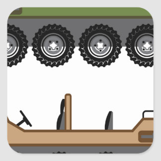 Off road Vehicle Utility Square Sticker