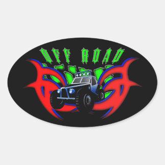 Off Roader Oval Sticker