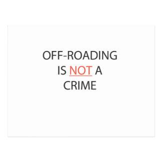 OFF-ROADING NO ES UN CRIMEN TARJETAS POSTALES
