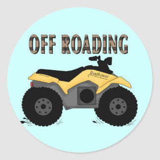 Off Roading Tshirts and Gifts Classic Round Sticker