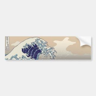 Off Shore Of Kanagawa - 冨嶽三十六景(ふがくさんじゅうろっけい) Bumper Sticker