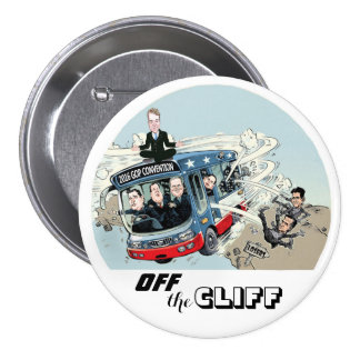 Off the CLIFF! 3 Inch Round Button