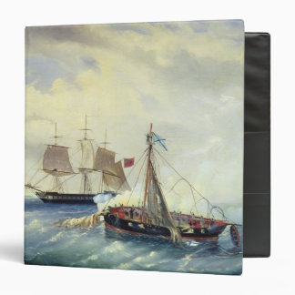 Off the coast of Nargen Island 3 Ring Binder