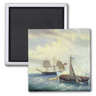 Off the coast of Nargen Island Refrigerator Magnet