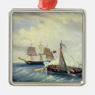 Off the coast of Nargen Island Metal Ornament