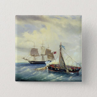 Off the coast of Nargen Island Pinback Button