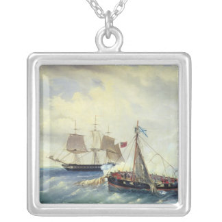 Off the coast of Nargen Island Silver Plated Necklace