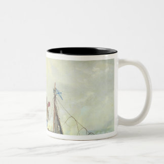 Off the coast of Nargen Island Two-Tone Coffee Mug