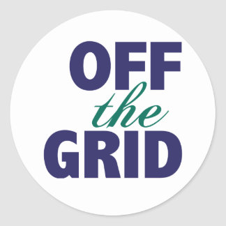 Off the Grid Classic Round Sticker