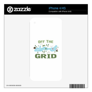 Off the Grid iPhone 4 Decals
