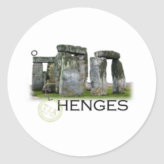 Off the Henges Classic Round Sticker