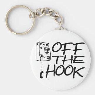 Off The Hook Basic Round Button Keychain