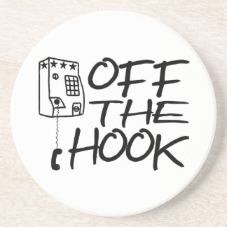 Off The Hook Pay Phone Drink Coaster